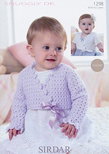 Crochet Cropped Ballet Cardigans in Sirdar Snuggly DK (1298) Knitting Pattern -