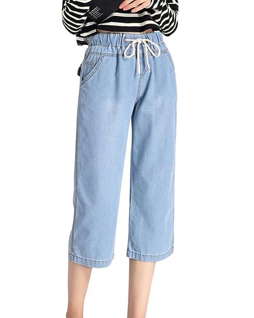 Pantalon Pirata Vaquero Mujer Anchos Tallas Grandes ...