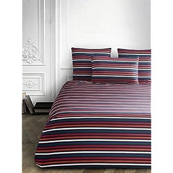 e93f1443ad Sonia Rykiel of Paris Standard Striped Sham Rue Saint Guillaume Poppy Red  100% Cotton