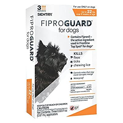 Sentry FiproGuard Topical Flea and Tick for Dogs from Sergeants Pet Care Products