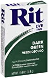 cloth dye green - Rit All-Purpose Powder Dye, Dark Green