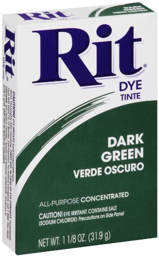 Tie Dye Fabric Paint - Rit All-Purpose Powder Dye, Dark Green