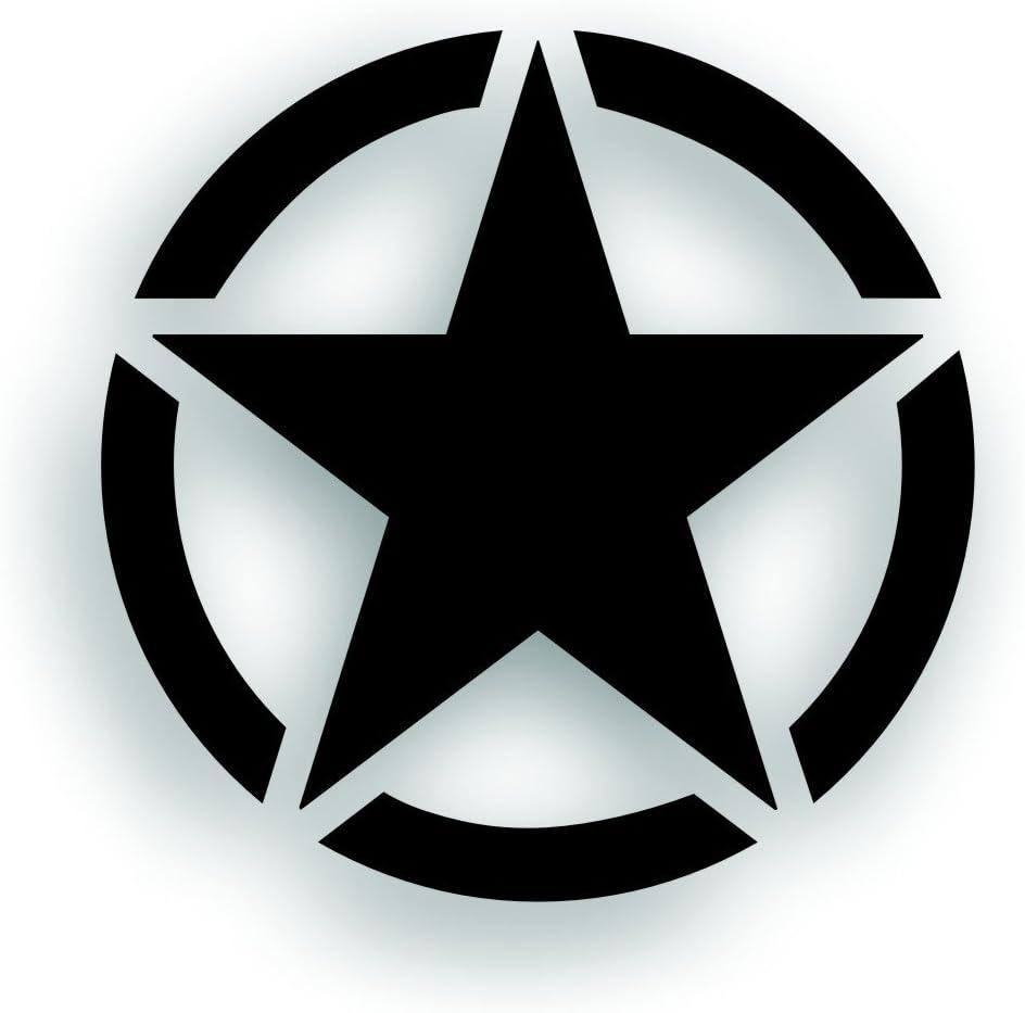 Army Distressed Military Star Jeep Hood Decal Wrangler JK CJ TJ YJ  USA body