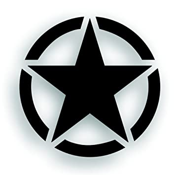 Amazon Military Invasion Star With Circle Decal 22 Inch Hood