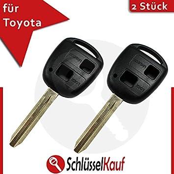 Auto Schlüssel Gehäuse 2 Tasten für TOYOTA Avensis Aygo Corolla RAV4 Yaris