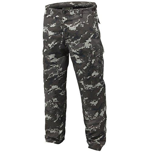 Mil-Tec BDU Ranger Combat Trousers Digital Black size XL