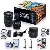 Canon EF 17-40mm f/4L USM / EF 50mm f/1.4 USM, Advanced 2 Lens Kit - Bundle With 58mm Filter Kit, 77mm Filter Kit, Flex Lens Shade, Cleaning Kit, 2x Capleash, Lens Case, Sotware Package