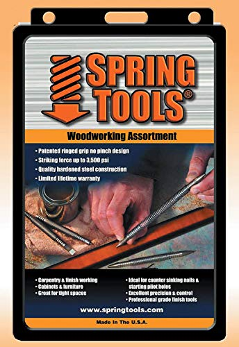 (Spring Tools WWA1105 5 Piece Center Punch, Nail Setter and Wood Chisel Set )