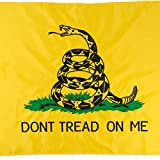 Jetlifee Gadsdent Flag 3 x 5 Ft Don't Tread On Me Flags by US Veteran Owned Biz. Message and Rattlesnake Design Nylon Embroidered Decorative Flags with Brass Grommets for Easy Hanging For Sale