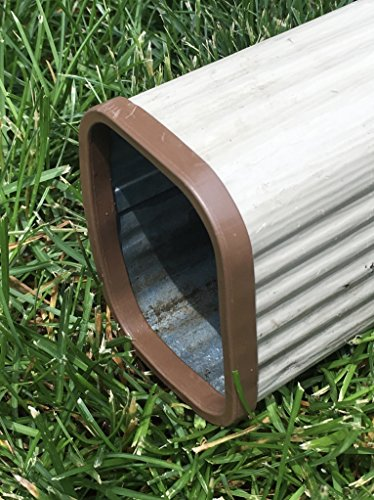Downspout Safety Cap 3x4 Brown 2PK by Downspout Safety Cap