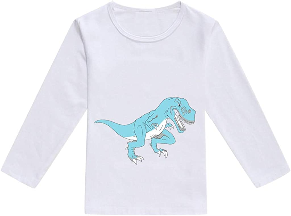 Toddler Baby Kids Boys Girls Spring Dinosaur Print Tops T-Shirt Casual Clothes squarex  Baby Tops