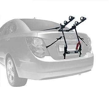 Fits most Sedans//Hatchbacks//Minivans and SUVs. Tyger Auto TG-RK2B202B Deluxe Black 2-Bike Trunk Mount Bicycle Carrier Rack
