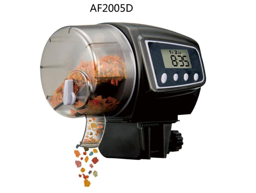 Polymer True Utility 1 Piece Large Black Aquarium Automatic Timing Feeder Fish Tank Food Automatic Feeder(AF-2005D) (Color : AF-2005D)