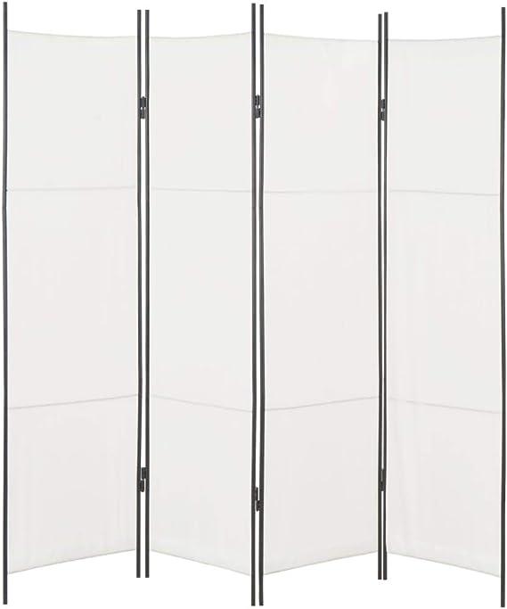 Festnight Biombo Divisor Plegable Diseño de 4 Paneles Tela Blanco 200x180 cm para Crear Privacidad para Habitaciones, Dormitorio: Amazon.es: Hogar