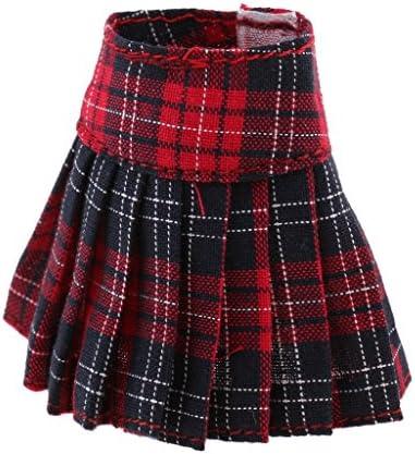 4カラー選ぶ  プリーツスカート ドレス 1/6スケールブライスアゾンリッカドール用 - レッド