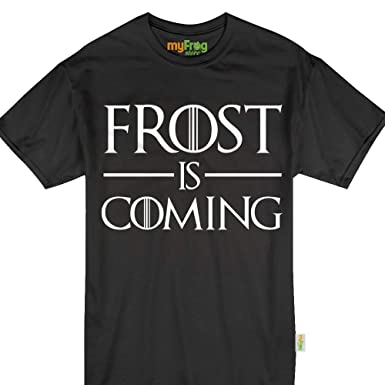 79e1b2aa Amazon.com: Frost is Coming Nebraska 2018 Funny Football T-Shirt: Clothing