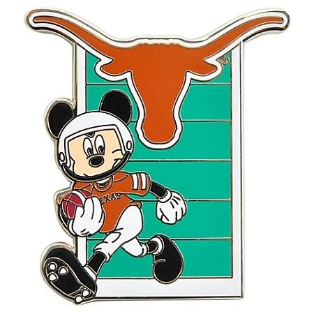 Disney Pin - Football Mickey - NCAA - University of Texas Longhorns - Pin 85395 (Texas Pins Longhorns)