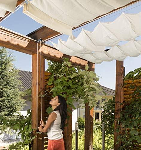 Windhager Cable de Acero Inoxidable Montaje y tensado de toldos y marquesinas, 14m x 2mm, 10822, canoso: Amazon.es: Jardín