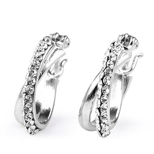 crystal hoop earrings - 6