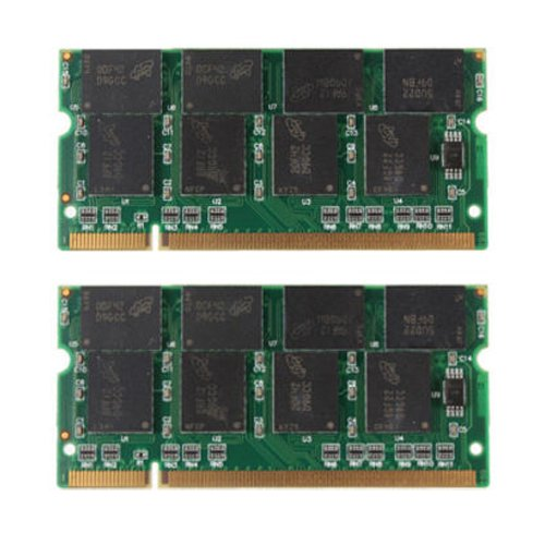 laptop ram - TOOGOO(R) 2GB 2X1GB PC2700 DDR-333 Non-ECC 200-Pin CL2.5 Laptop (SODIMM) Memory (RAM) New
