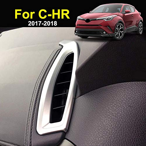Aspeike for Toyota C-HR CHR 2017 2018 Matt Silver Dashboard Air Vent Outlet Cover Trim Bezel