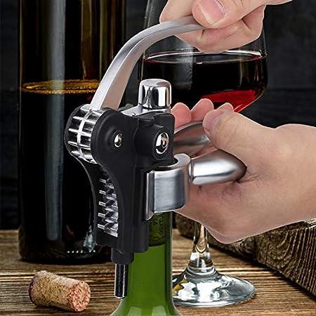 Abrebotellas de vino de conejo, sacacorchos de botella de vino de aleación de zinc, abridor de tornillos de corcho Sacacorchos y Abridor de Sommelier Profesional