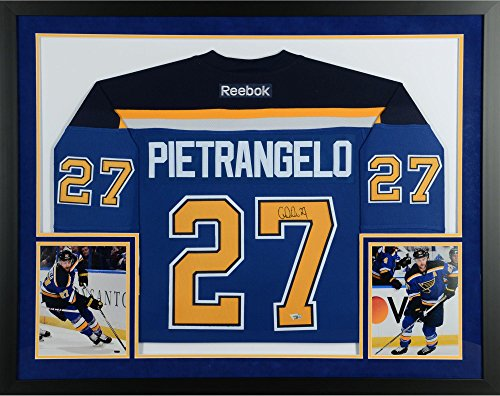 Alex Pietrangelo St. Louis Blues SM Deluxe Framed Autographed Blue Reebok Premier Jersey - Fanatics Authentic Certified (Autographed Reebok Jersey Authentic Blue)