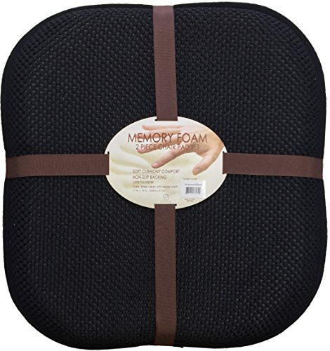 Set of 2, Memory Foam Non-Slip Backing Chair Pad / Seat Cushion Pad Size : 16