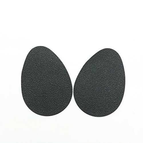 (IDS 5 Pairs Rubber Anti-Slip Shoes Heel Insole Protector Pads Self-Adhesive Non-Slip Grip High Heels Sticker, Black)