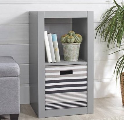 Better Homes and Gardens 2-Cube Organizer (Grey)