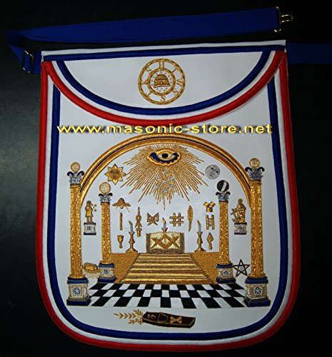 Masonic George Washington's Apron Design - Hand Embroidery 1900 Embroidery
