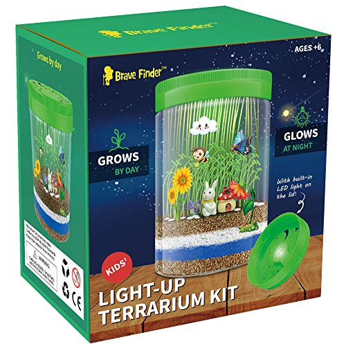 - Terrarium Kit for Kids Light-up Kits Kids Crafts with LED Kids Birthday Gifts | Educational Gifts for Boys & Girls | Science Kit for Ages 3 -12 Create a Miniature Garden for Children | Kids Toys