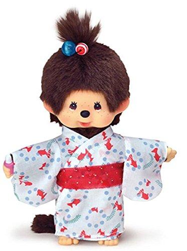 "Original Sekiguchi 8"" Girl Monchhichi Doll in Yukata Outfit"