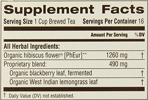 Traditional Medicinals Organic Hibiscus Herbal Tea, 16 Tea Bags (Pack of 6) - incensecentral.us