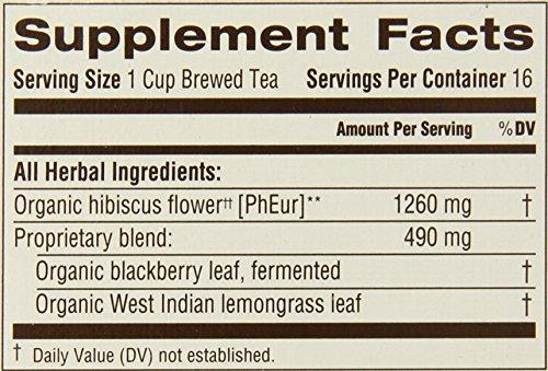 Traditional Medicinals Organic Hibiscus Tea, 16 Tea Bags (Pack of 6)