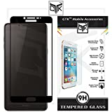 TheGiftKart Edge-To-Edge Ultra Premium HD Curved Korean Full Screen Tempered Glass Screen Protector (Complete Screen Coverage & Precise Cut-outs for Camera & Sensors) For Samsung Galaxy C9 PRO - Black
