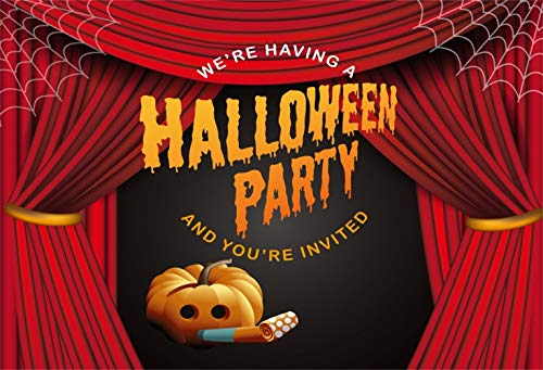 Laeacco 10x6.5ft Halloween Party Invitation Poster Backdrop Vinyl