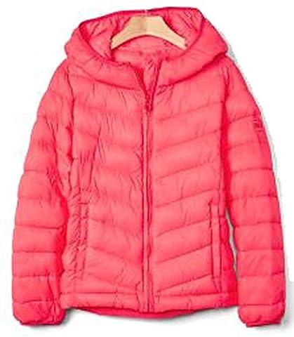 Gap Kids Girls Sassy Pink Primaloft ColdControl Lite Hooded Jacket XXL 14 16 - Gap Girls Jacket