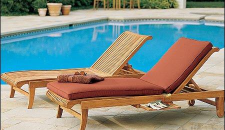 Sunbrella Fabric Custom Made Outdoor Cushions for Giva Ch...
