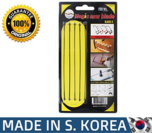 Magic Saw Fine Coping Blade Original Korean (5 Units) designed for hard metals like steel by Amazing Tools (Image #4)