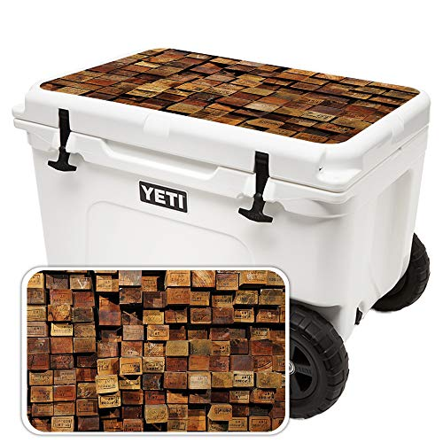(MightySkins Skin for Yeti Tundra Haul Cooler Lid - Stacked Wood | Protective, Durable, and Unique Vinyl Decal wrap Cover | Easy to Apply, Remove, and Change Styles | Made in The USA)