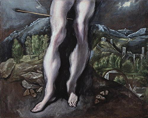 The Perfect Effect Canvas Of Oil Painting 'El Greco Saint Sebastian's Legs 1610 14 ' ,size: 20 X 25 Inch / 51 X 64 Cm ,this High Resolution Art Decorative Canvas Prints Is Fit For Hallway Gallery Art And Home Decoration And Gifts - Varsity Stripe Rug