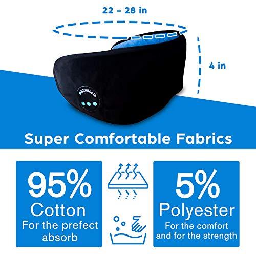 Beyond_Wellness Bluetooth Sleeping Eye Mask,Wireless Bluetooth Headphones, Music Travel Sleeping Headset, Washable Sleeping mask