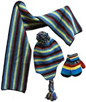 N'Ice Caps Little Boys and Baby Striped Hat/Scarf/Mitten Knitted Set