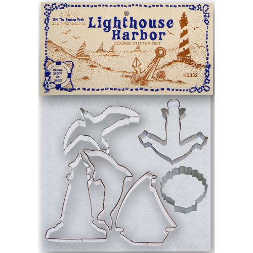 Lighthouse Harbor Tin Cookie Cutter 6 Pc Set Hs332