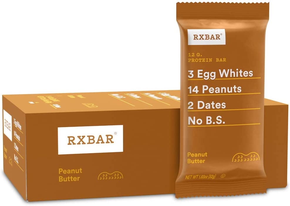 RX Bar Protein Bar, Peanut Butter, 1.83 oz (12 Count)