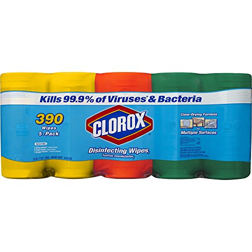 Clorox Disinfecting Wipes Value Pack, 5 pk./78 ct. (pack of 6) by Clorox