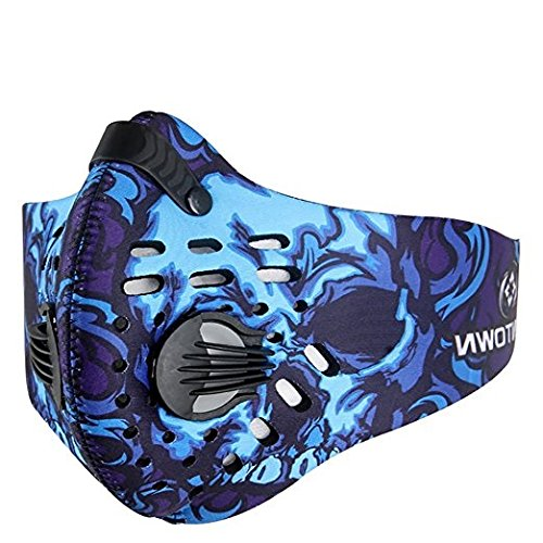 Mecar Sport Dust Mask Cycling Running Outdoor Face Mask Starter Training - Pads Glasses To Adjust Nose How