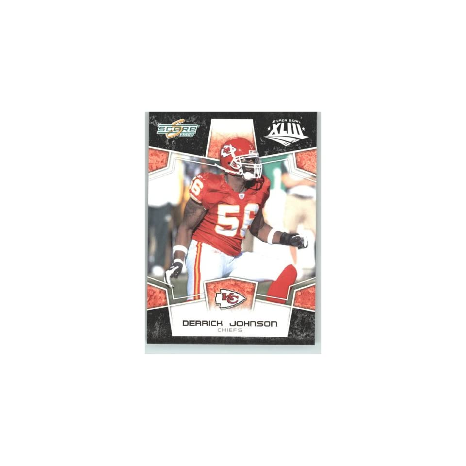 XLIII Black Border # 158 Derrick Johnson   Kansas City Chiefs   NFL