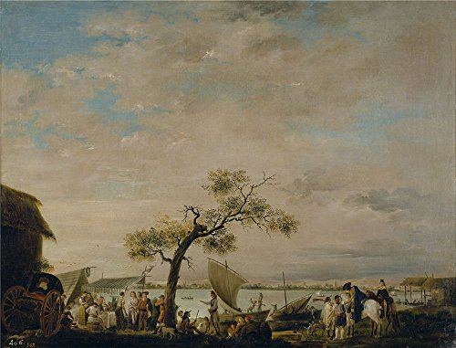 The High Quality Polyster Canvas Of Oil Painting 'Carnicero Antonio Vista De La Albufera De Valencia Ca. 1783 ' ,size: 8 X 10 Inch / 20 X 27 Cm ,this Amazing Art Decorative Prints On Canvas Is Fit For Powder Room Gallery Art And Home Decor And Gifts